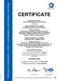 Сертификат соответствия стандарту ISO 9001:2008